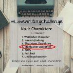 #LoveWritingChallenge – Männlicher Charakter